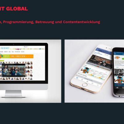 Schulwettbewerb EineWeltSong Website www.eineweltsong.de